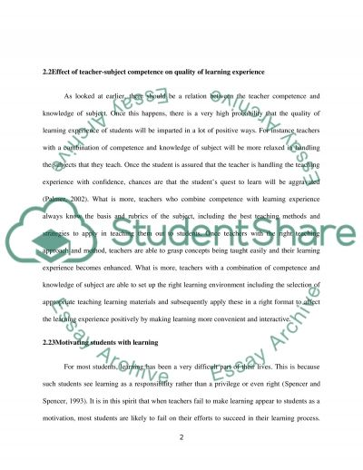 Professional Specialism 1 : Primary essay example