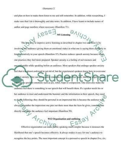 Essentials of Public Speaking Fifth Edition Cheryl Hamilton Tarrant country collage-NE Campus