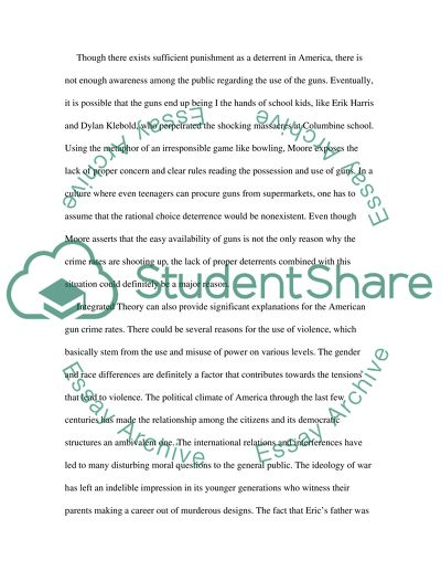 term paper thesis on columbine school shooting