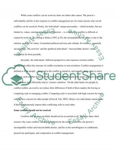 Managing Conflict essay example