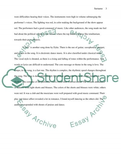 paul van dyke concert critique essay example topics and well   text preview