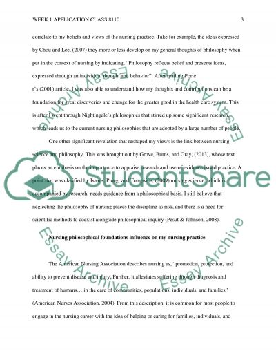 application week 1 class 8110 Essay example
