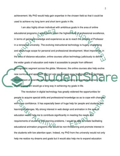 Personal Statement,The purpose of the study