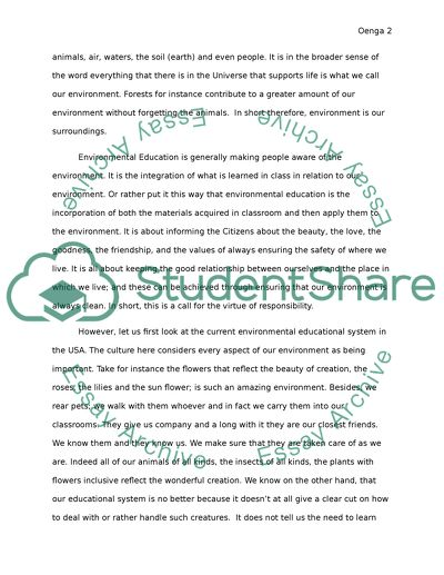 How To Write A Proposal Essay Example Environmental Education Wonder Of Science Essay also Thesis Statement For An Argumentative Essay Environmental Education Essay Example  Topics And Well Written  Essay Papers For Sale
