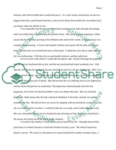 Application essay writing about friendship