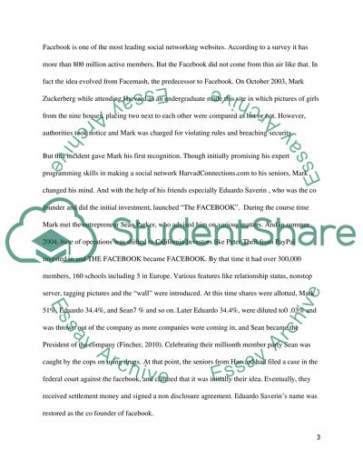 thesis statement for the social network movie