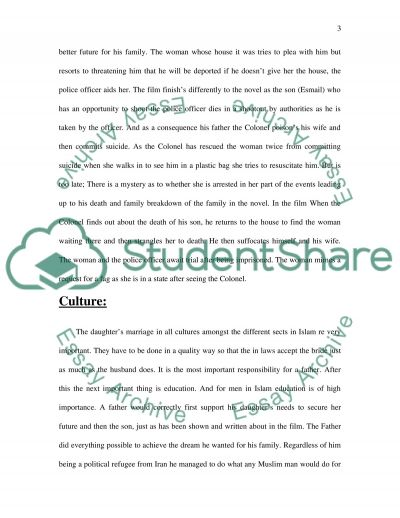 House of sand and fog Movie essay example