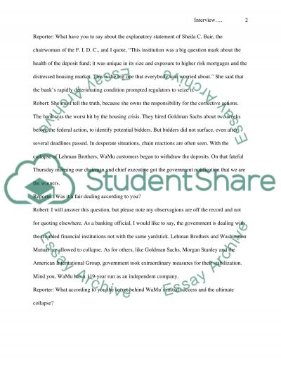 Field trip / interview report essay example