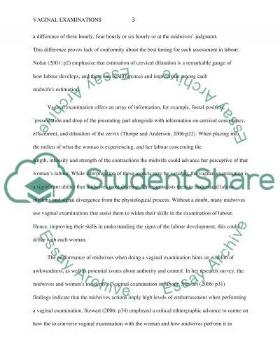 Vaginal Examinations Paper essay example