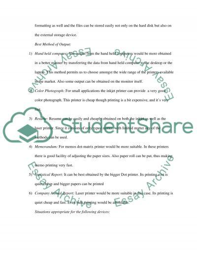 Explaining Hardware essay example
