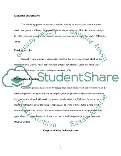 Research paper on consumer behaviour