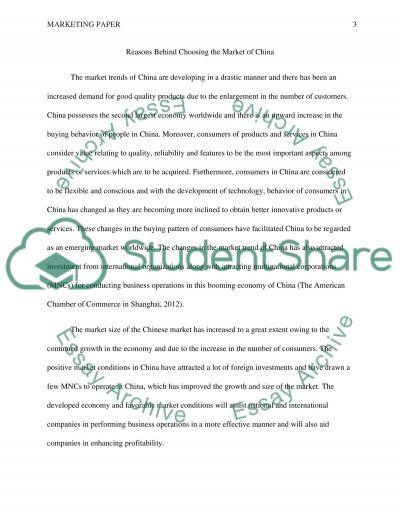 Marketing Paper