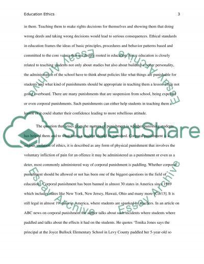 Ethics Dealing between Principles of school and Teachers essay example