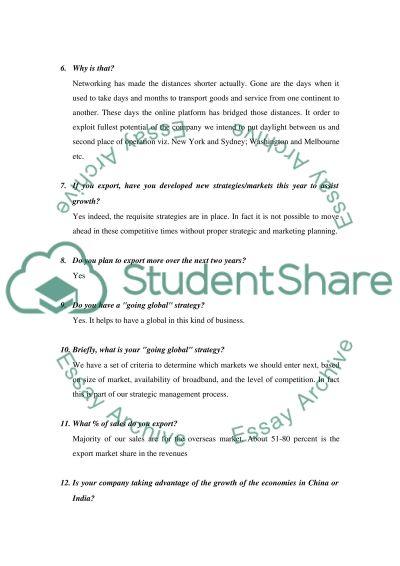 Groth issues of Aconex company essay example