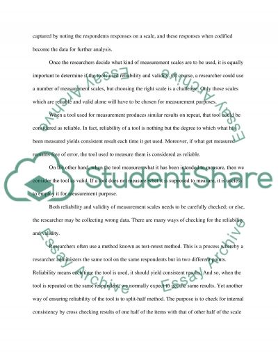 Measure and assessment essay example