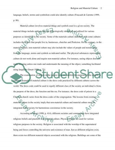 Religion and Material Culture essay example