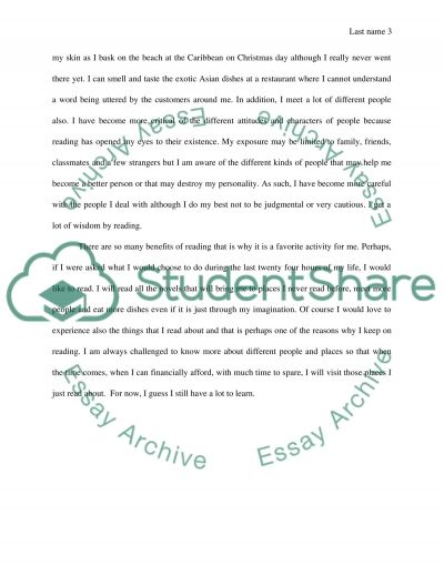 the benefits of reading essay example topics and well written   text preview