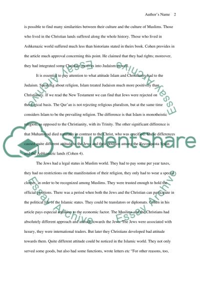 Critical reading assignment essay example