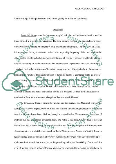 The purpose of Dantes journey essay example