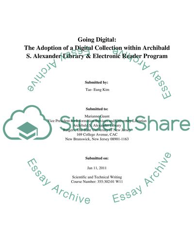 Research Paper about Digital Collection in library