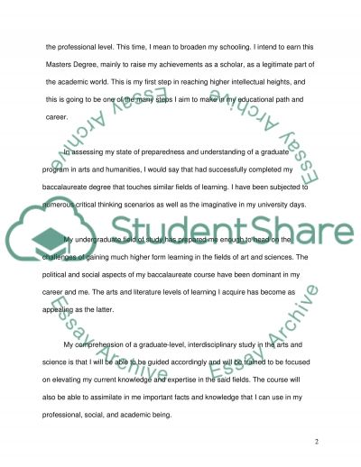 Guidelines for the Admissions Essay essay example