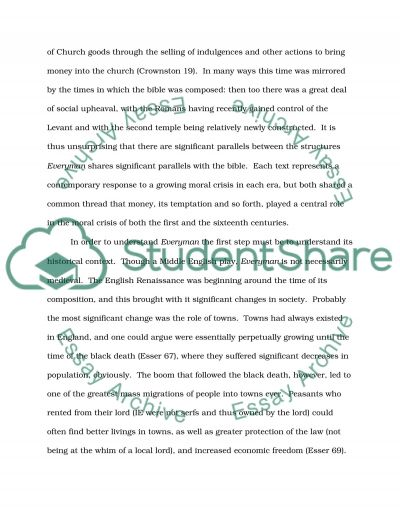 Everyman, Material Goods and Salvation essay example