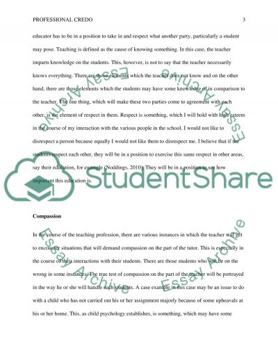 professional credo essay example topics and well written essays  professional credo essay example