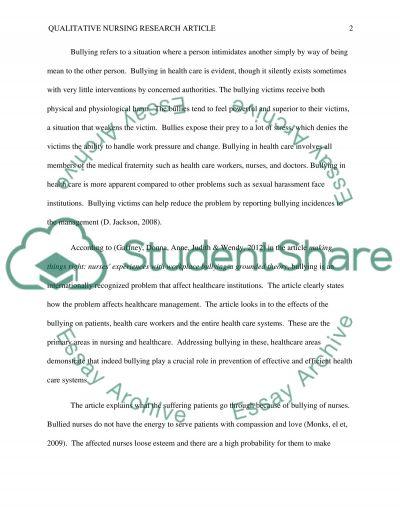 Qualitative individual essay example