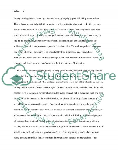 What An Education Means To Me essay example
