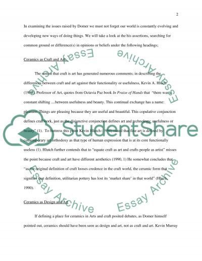 Examine some of the issues raised by Domer in this statment Do so with reference to specific practitioners essay example