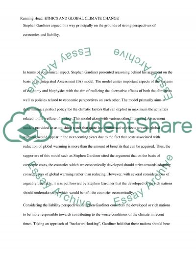 Ethics and Global Climate Change essay example