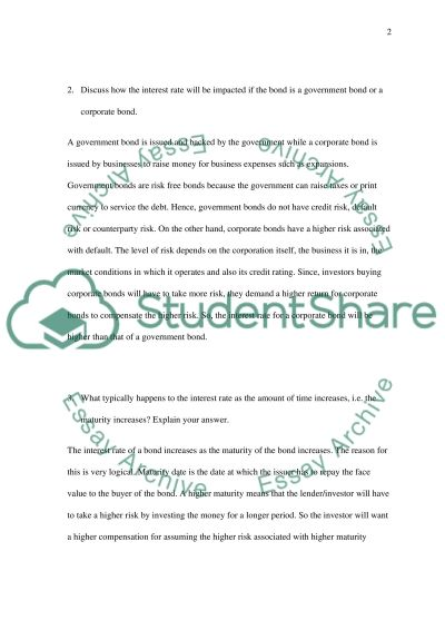 Assets and Interest Rates essay example