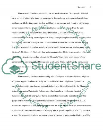Gay Marriage Essay essay example