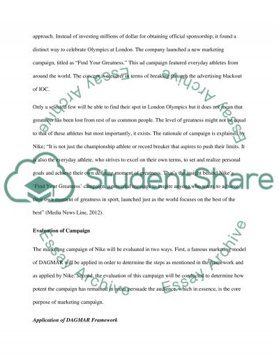 Marketing Campaign of Nike essay example