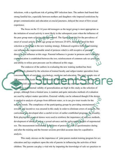 Parent-Adolescent Relationship Education