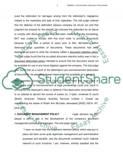 Document Management essay example