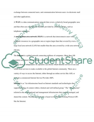 Computing networking Essay essay example