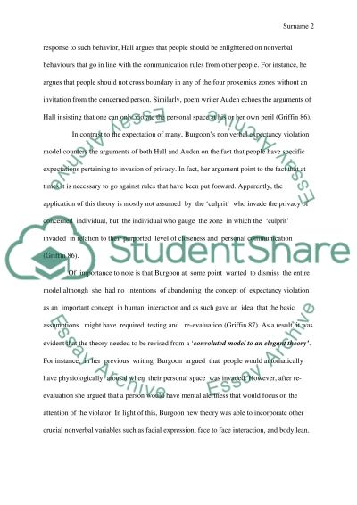Expectancy violations theory essay example