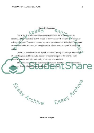 DEVELOP A MARKETING PLAN essay example
