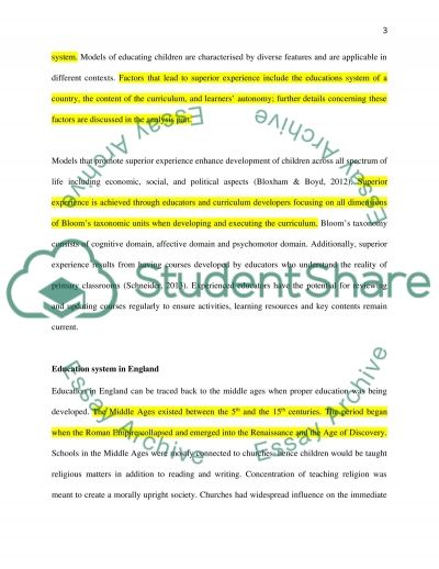 The differences between primary school in England and Saudi Arabia essay example