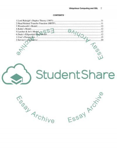 Ubiquitous Computing essay example