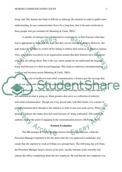 Making Communication Count essay example