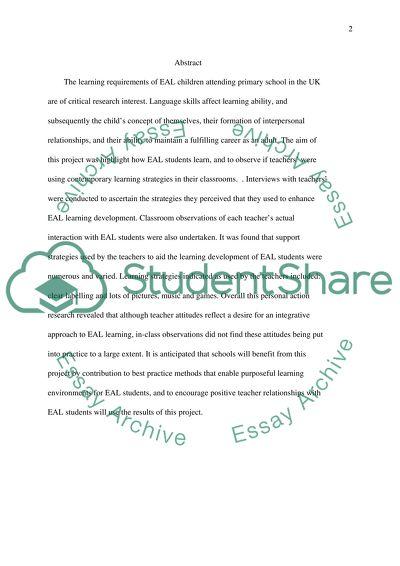 EAL Educational Children Support