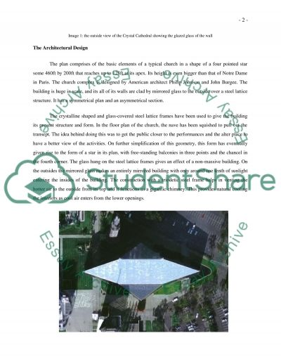 The Crystal Cathedral essay example