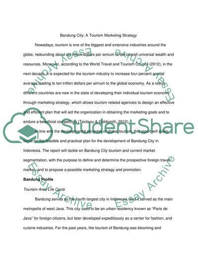 Bandung City: A Tourism Marketing Strategy Research Paper
