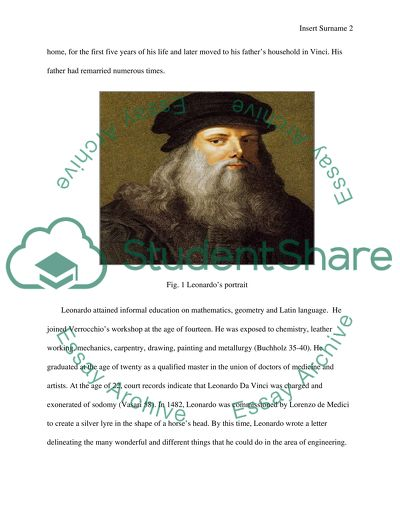 Leonardo da vinci and the science work