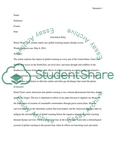Write an annotation entry consisting of a Citation, a brief Summary, and a short paragraph Evaluation