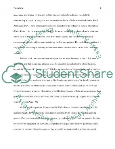 Banking Concept Of Education essay example