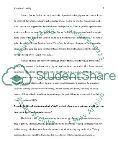 Vicarious Liability Essay Example  Topics And Well Written Essays  Vicarious Liability  Essay Example Synthesis Example Essay also Buy Essay Papers  Essay Proposal Examples
