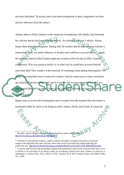 Law of Criminal Evidence Case Study essay example